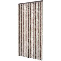 Insect Curtain Beige and Light Brown 100x220 cm Chenille