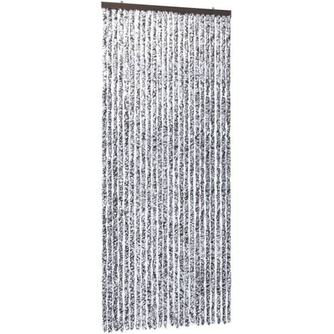 Insect Curtain Brown and Beige 100x220 cm Chenille