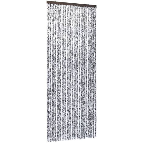 Insect Curtain Brown and Beige 90x220 cm Chenille