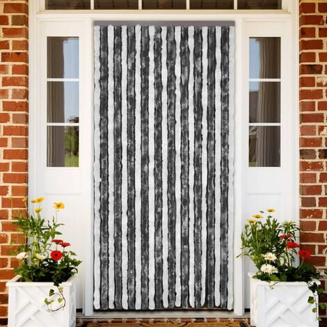 Insect Curtain Grey and White 100x220 cm Chenille