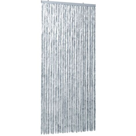 Insect Curtain White and Grey 100x220 cm Chenille