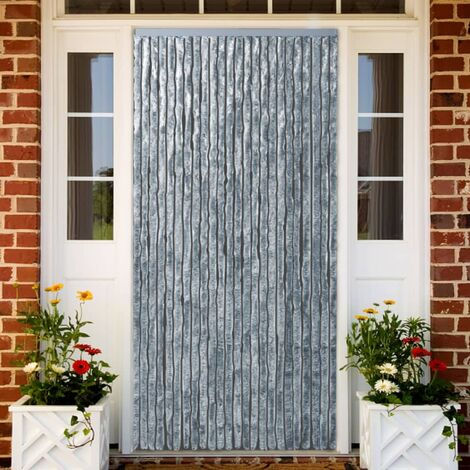 Insect Curtain White and Grey 90x220 cm Chenille