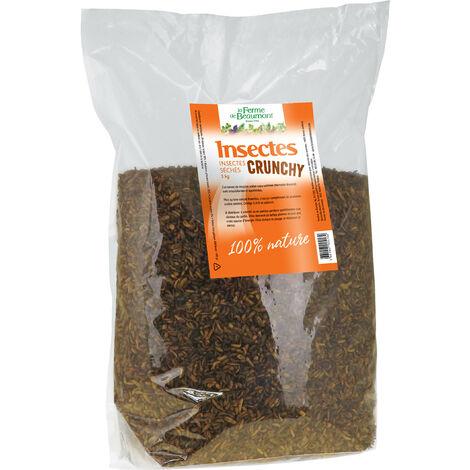 Insectes séchés Crunchy poules et oiseaux 3 kg