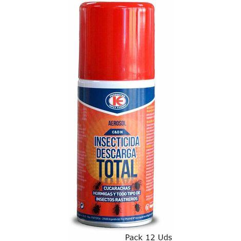 Insecticida Descarga Total IMPEX contra Insectos Voladores y Rastreros - Pack Ahorro 12 x 150 ml