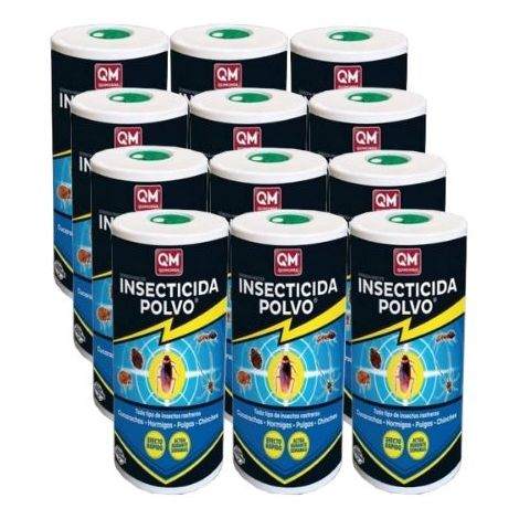 Insecticida EXTINCIDA POLVO 500g polivalente contra cucarachas, chinches, pulgas e insectos rastreros - Caja Completa 12 x 500 gr.