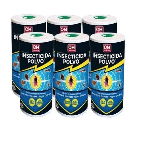 Insecticida EXTINCIDA POLVO 500g polivalente contra cucarachas, chinches, pulgas e insectos rastreros - Pack Ahorro 6 x 500 gr.