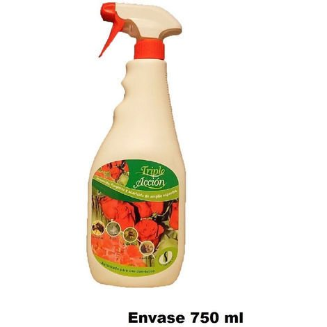 Insecticida, fungicida y acaricida SPRAY TRIPLE ACCIÓN 750ml