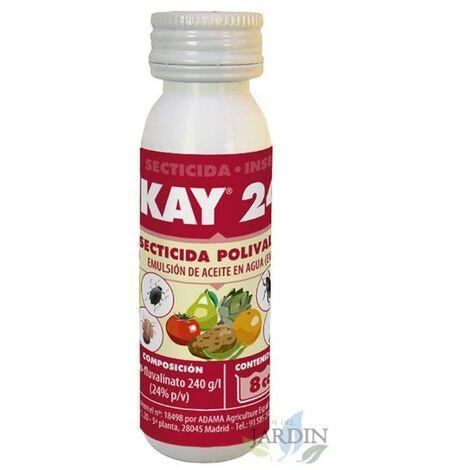 Insecticida Kay 24, 8cc. Uso en pulgón, trips, psila, prays, empoasca y otros