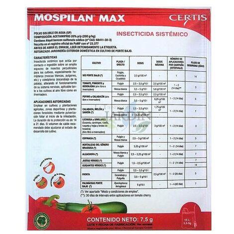 Insecticida Mospilan 7,5 gr. Indicado para el pulgón, Mosca Blanca, Escarabajo Patata, etc