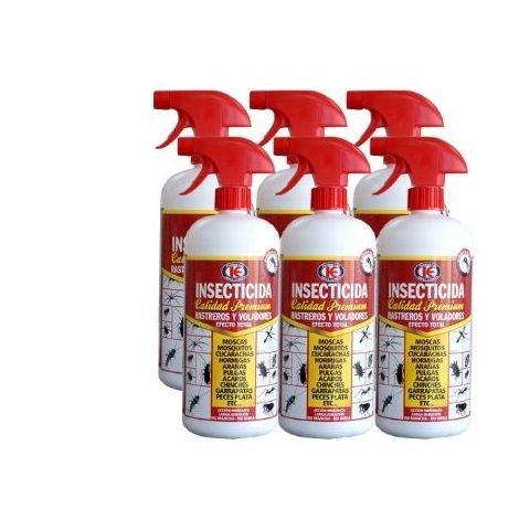 Insecticida Premium IMPEX EUROPA 1L contra insectos voladores y rastreros - Pack ahorro 6 x 1000 ml
