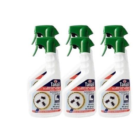 Insecticida TANZIL contra ácaros del polvo, voladores y rastreros - Pack ahorro 6 x 750 ml