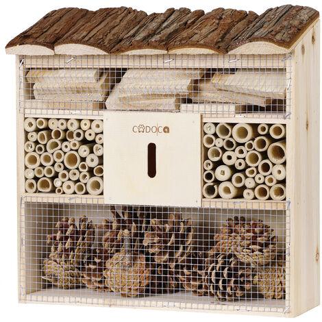 """Insektenhotel """"Bug's Inn"""" aus Holz Insektenhaus Bienenhotel Haus Nistkasten Brutkasten Imker Insekten"""