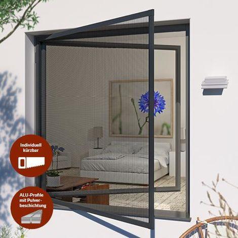 Insektenschutz-Drehrahmen PRO für Fenster - 100x120 cm ...