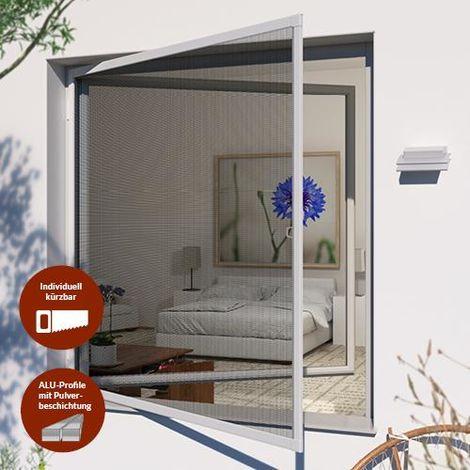 Insektenschutz-Drehrahmen PRO für Fenster - 140x150 cm, weiß