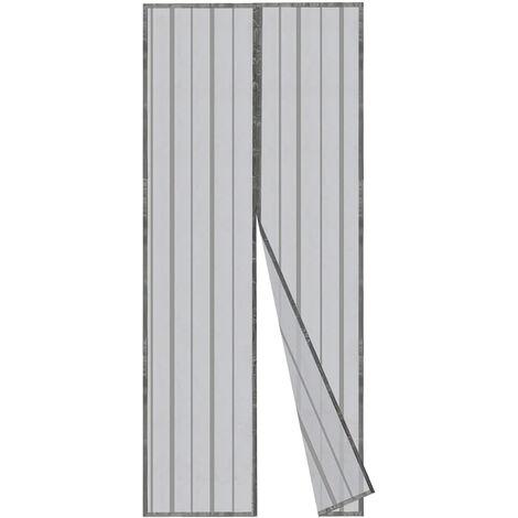 Insektenschutz Fliegengitter Magnetvorhang für Türen / Grau