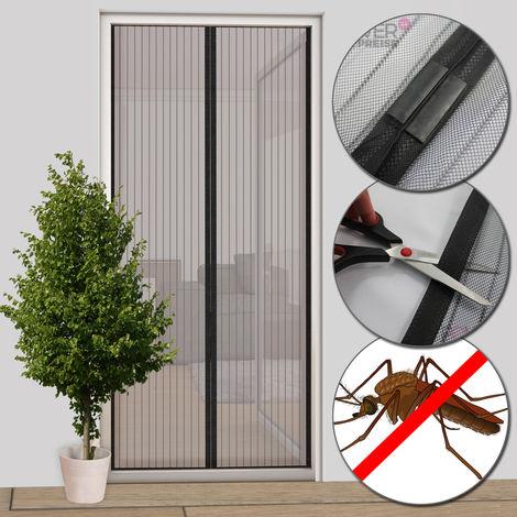 Insektenschutz Magnet Türvorhang 100x220 cm anthrazit