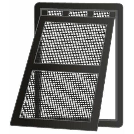 Insektenschutz-Tür PRO mit Katzenklappe - 100x210 cm, weiß