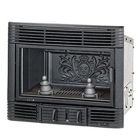 insert à bois 8kw noir - 654 - supra