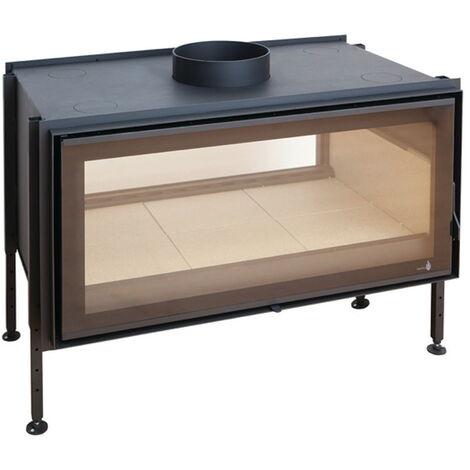 Insert à bois Modèle C-1000DF - Collection VISION XXL - Noir