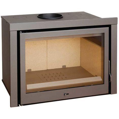 Insert à bois anthracite/noir modèle C140 + Cadre inférieur 40mm ACIER