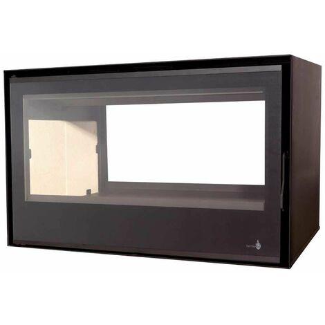 Insert à bois Modèle C-290DF - Collection VISION - Anthracite/noir