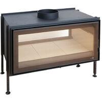 Insert à bois Modèle C1000DF - Collection VISION XXL - Noir