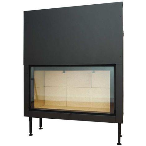 Insert à bois noir modèle C1000ES + Kit de ventilation + Régulateur de vitesse + Cadre XL