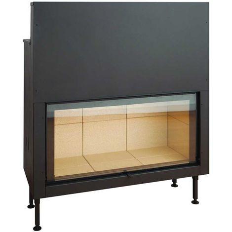 Insert à bois noir modèle C1150ES + Kit de ventilation + Régulateur de vitesse + Cadre XL