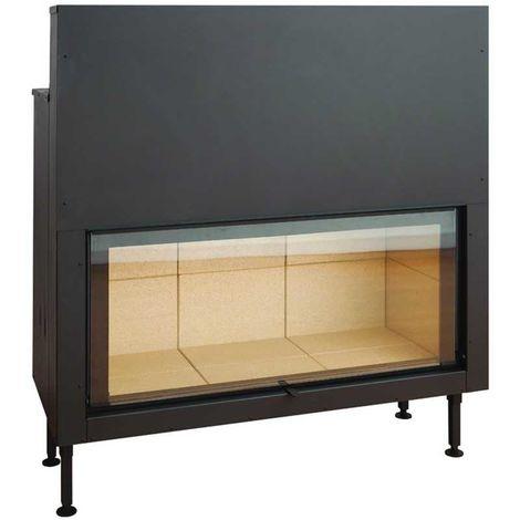 Insert à bois noir modèle C1250ES + Kit de ventilation + Régulateur de vitesse + Cadre XL