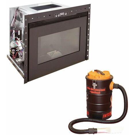Insert à granules BENITO 10KW - Noir option aspirateur 20 litres 1000W
