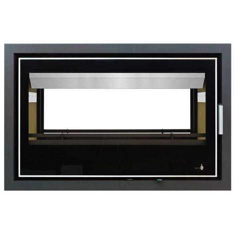 INSERT Black Serie Double Face modèle LISBOA-900DF porte Battante avec puissance de 14kW + Ventilation