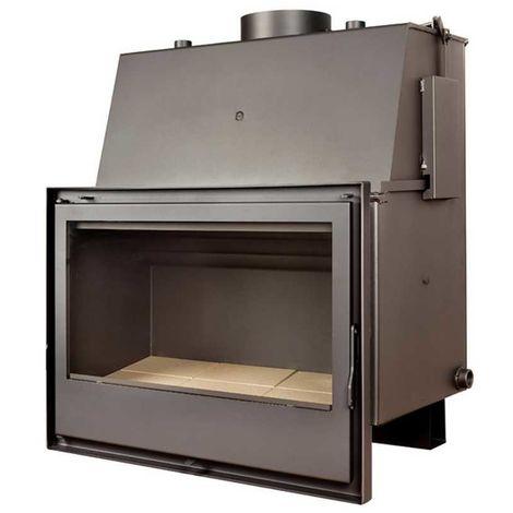 Insert chaudière à bois gris acier modèle C570H + Cadre QUADRO complet 40mm