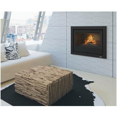 Insert cheminée à bois Holguin avec turbine 19 kW - Prise d'air exterieur: avec