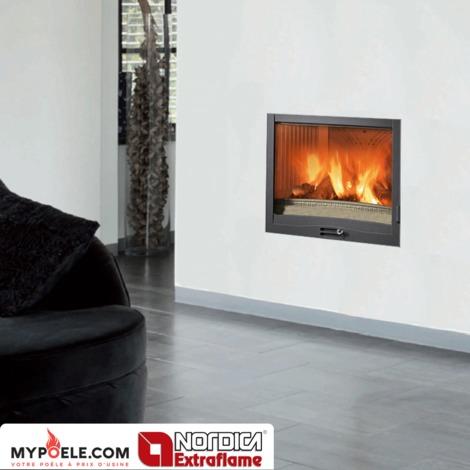 Insert cheminée à bois La NORDICA 11,4KW Focolare 70 Piano