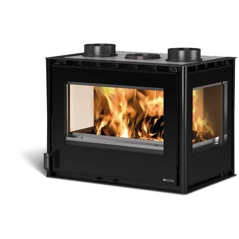Insert cheminée à bois La NORDICA 11,8KW Inserto 70 Crystal 3 Lati