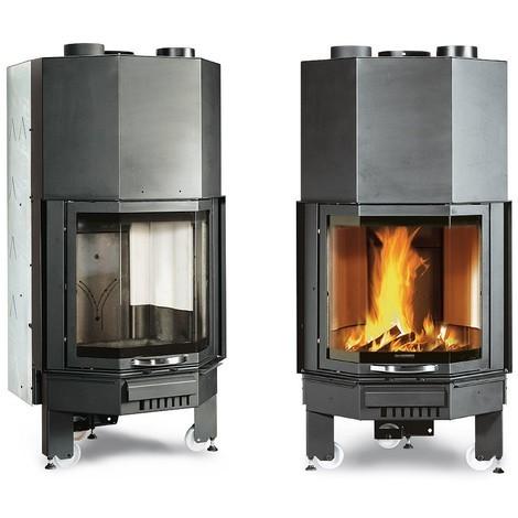 Insert cheminée à bois La NORDICA 12,7KW Monoblocco 600 Prismatico
