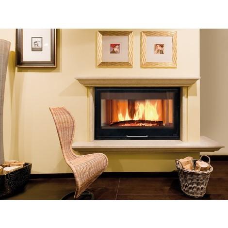 Insert cheminée à bois La NORDICA 16,7KW Monoblocco 1300 H 800 - Piano