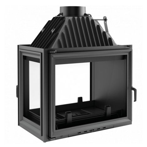 Insert cheminées à bois MELINIA 2 côtés vitrés, version gauche 29 kW