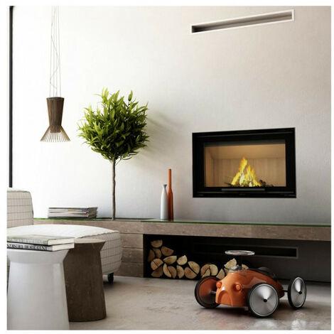 Insert cheminées à bois ZELIA porte guillotine 14 kW