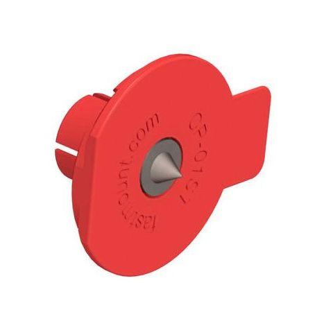 Insert de centrage cp-01st - Matériau : Acier inoxydable - Décor : Rouge - Diamètre : 50 mm - FASTMOUNT