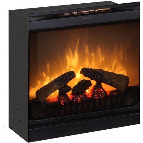 Insert de cheminée électrique optiflame 20 pouces 1200 W - Noir