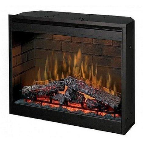 Insert de cheminée électrique optiflame 30 pouces 1000 à 2000 W - Noir