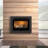 Insert de cheminée en acier à verre sérigraphier 12.5 Kw