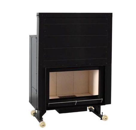 Insert foyer acier carbone à foyer briques réfractaires 16 Kw 1560x1057x532mm