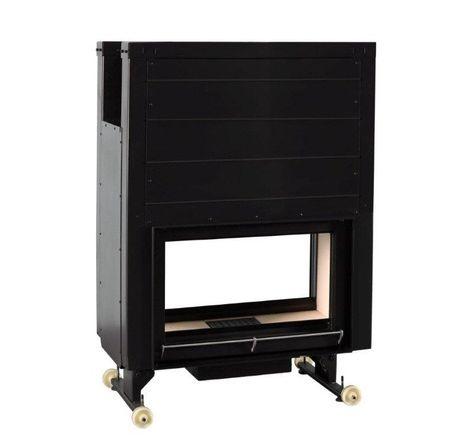 Insert foyer acier carbone à foyer briques réfractaires 16 Kw 1560x1057x565 mm