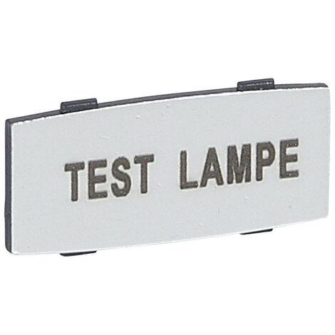Insert Osmoz avec texte à enclipser sur un cadre alu petit modèle avec marquage TEST LAMPE (024345)