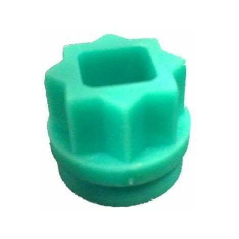 Insert seul carré de 7 - Vert
