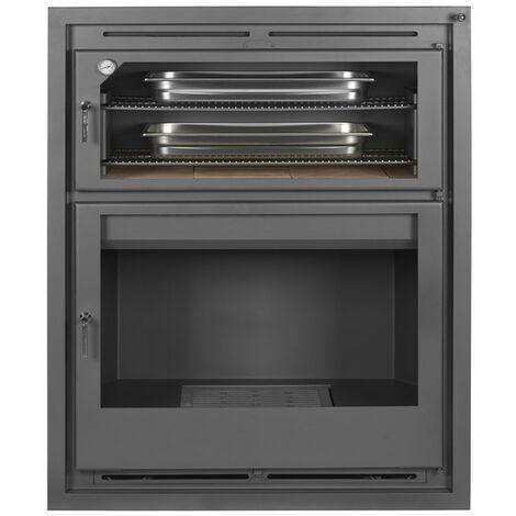 Insertable con horno, ventilación forzada y doble combustión