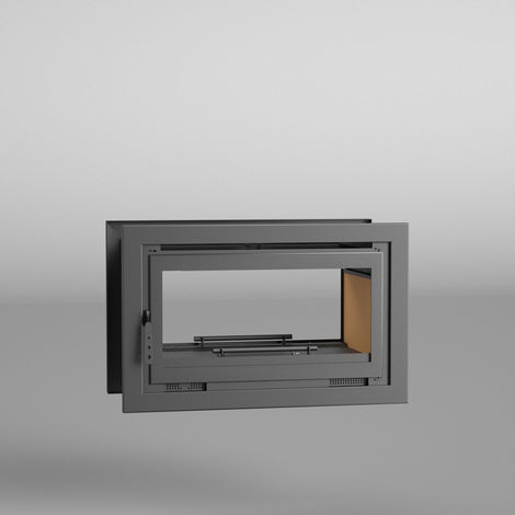 Insertable Leña 100 cm a 2 caras IT-102 - FM CALEFACCION - Turbinas - Interior Vermiculita - Doble combustión