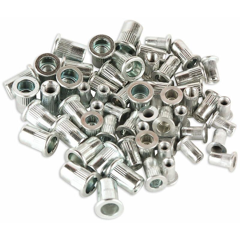 Lot de 60 inserts filet/és en acier inoxydable pour r/éparation de filetages m/étriques M3 M4 M5 M6 M8 M10 M12